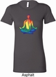 Yoga Chakra Lotus Pose Ladies Longer Length Shirt