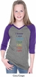 Yoga Chakra Words Girls Three Quarter Sleeve V-Neck Shirt