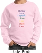 Yoga Chakra Words Kids Sweatshirt