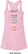 Yoga Chakra Words Ladies Flowy Racerback Tanktop