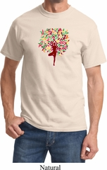 Yoga Foliage Tree Pose Adult Shirt