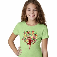 Yoga Foliage Tree Pose Girls Shirt