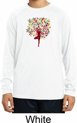 Yoga Foliage Tree Pose Kids Dry Wicking Long Sleeve Shirt