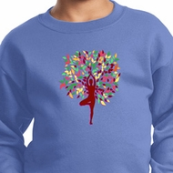 Yoga Foliage Tree Pose Kids Sweatshirt