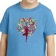Yoga Foliage Tree Pose Toddler Shirt