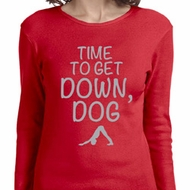 Yoga Get Down Dog Ladies Long Sleeve Shirt