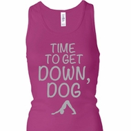 Yoga Get Down Dog Ladies Longer Length Racerback Tank Top