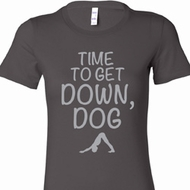 Yoga Get Down Dog Ladies Longer Length Shirt