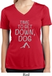 Yoga Get Down Dog Ladies Moisture Wicking V-neck Shirt