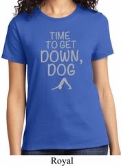 Yoga Get Down Dog Ladies Shirt