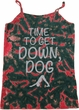Yoga Get Down Dog Ladies Tie Dye Camisole Tank Top