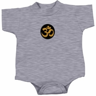 Yoga Gold AUM Patch Baby Onesie