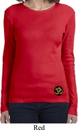 Yoga Gold AUM Patch Bottom Print Ladies Long Sleeve Shirt