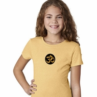 Yoga Gold AUM Patch Girls Shirt