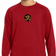 Yoga Gold AUM Patch Kids Dry Wicking Long Sleeve Shirt