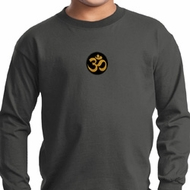Yoga Gold AUM Patch Kids Long Sleeve Shirt