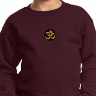 Yoga Gold AUM Patch Kids Sweatshirt