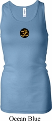 Yoga Gold AUM Patch Ladies Longer Length Racerback Tank Top