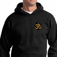 Yoga Gold AUM Patch Pocket Print Hoodie
