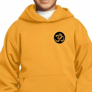 Yoga Gold AUM Patch Pocket Print Kids Hoodie