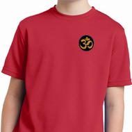 Yoga Gold AUM Patch Pocket Print Kids Moisture Wicking Shirt