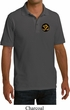 Yoga Gold AUM Patch Pocket Print Mens Pique Polo Shirt