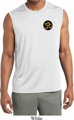 Yoga Gold AUM Patch Pocket Print Mens Sleeveless Moisture Wicking