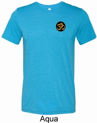 Yoga Gold AUM Patch Pocket Print Mens Tri Blend Crewneck Shirt