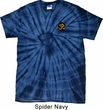Yoga Gold AUM Patch Pocket Print Spider Tie Dye Shirt