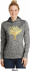 Yoga Gold Foil Tree of Life Ladies Moisture Wicking Hoodie