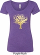 Yoga Gold Foil Tree of Life Ladies Scoop Neck Shirt