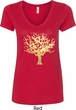 Yoga Gold Foil Tree of Life Ladies V-Neck Shirt
