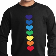 Yoga Heart Chakras Kids Long Sleeve Shirt
