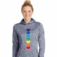 Yoga Heart Chakras Ladies Moisture Wicking Hoodie