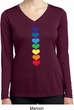 Yoga Heart Chakras Ladies Moisture Wicking Long Sleeve Shirt