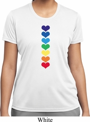 Yoga Heart Chakras Ladies Moisture Wicking Shirt