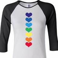 Yoga Heart Chakras Ladies Raglan Shirt