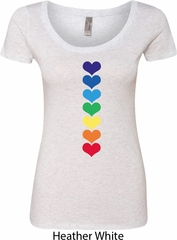 Yoga Heart Chakras Ladies Scoop Neck Shirt