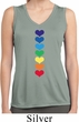 Yoga Heart Chakras Ladies Sleeveless Moisture Wicking Shirt