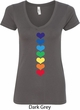 Yoga Heart Chakras Ladies V-Neck Shirt