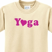 Yoga Heart Neon Kids Yoga Shirts