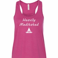 Yoga Heavily Meditated Ladies Flowy Racerback Tanktop