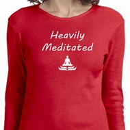 Yoga Heavily Meditated Ladies Long Sleeve Shirt
