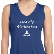 Yoga Heavily Meditated Ladies Sleeveless Moisture Wicking Shirt