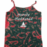 Yoga Heavily Meditated Ladies Tie Dye Camisole Tank Top