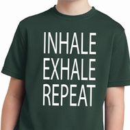 Yoga Inhale Exhale Repeat Kids Moisture Wicking Shirt