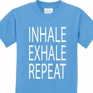 Yoga Inhale Exhale Repeat Kids Shirt