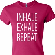 Yoga Inhale Exhale Repeat Ladies Crewneck Shirt