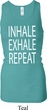 Yoga Inhale Exhale Repeat Ladies Longer Length Racerback Tank Top