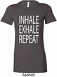 Yoga Inhale Exhale Repeat Ladies Longer Length Shirt